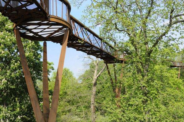 ההליכה על ה-Treetop Walkaway בין צמרות העצים היא חגיגה לילדים | צילום: RBG Kew
