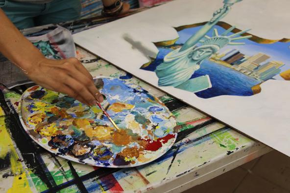 פסטיבל ציורי רצפה בתלת מימד