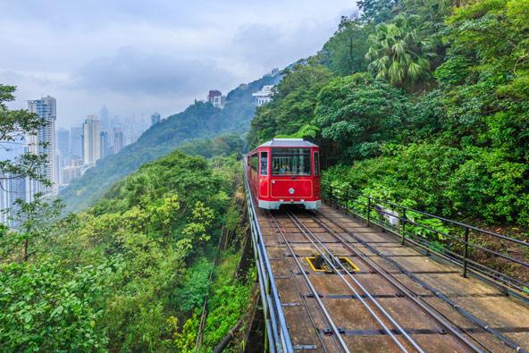 הרכבת לפסגת ויקטוריה אוחזת בתואר הפוניקולר התלול בעולם