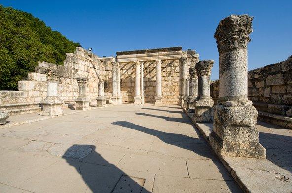 שרידי בית הכנסת מהמאה הרביעית בכפר נחום