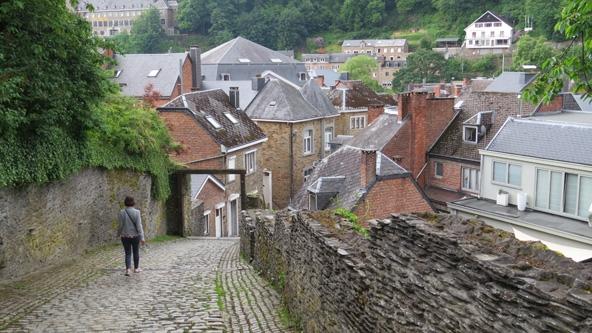 השביל המוביל אל הטירה ההרוסה החולשת על העיירה לה רוש אן ארדן
