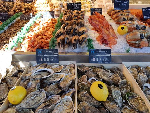 מאכלי ים ב-Chez Pascal. עוד דבר שראוי להתנסות בו בדוביל