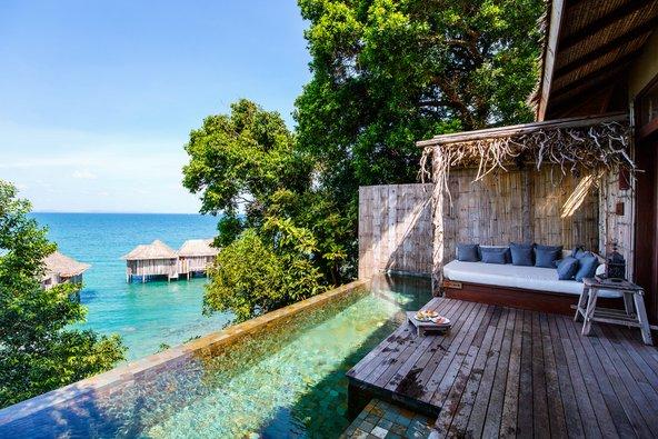 וילה עם בריכה פרטית ונוף לים באי הפרטי Song Saa