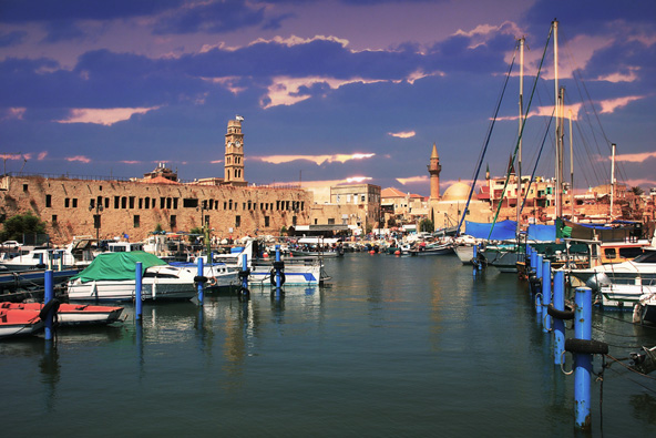 הנמל של עכו. הקרבה של חיפה ועכו מאפשרת לשלב את שתי הערים בטיול אחד