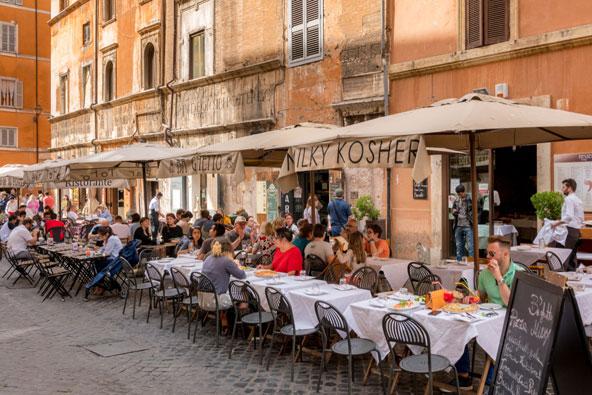 מסעדה כשרה ברובע היהודי ברומא