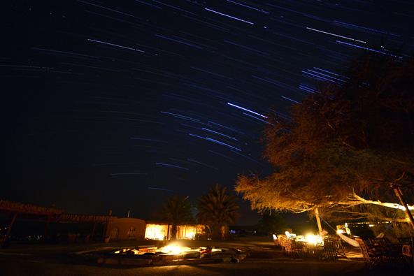מסלולי כוכבים במדבר, באזור ניצנה, צילום: נירה צדוק