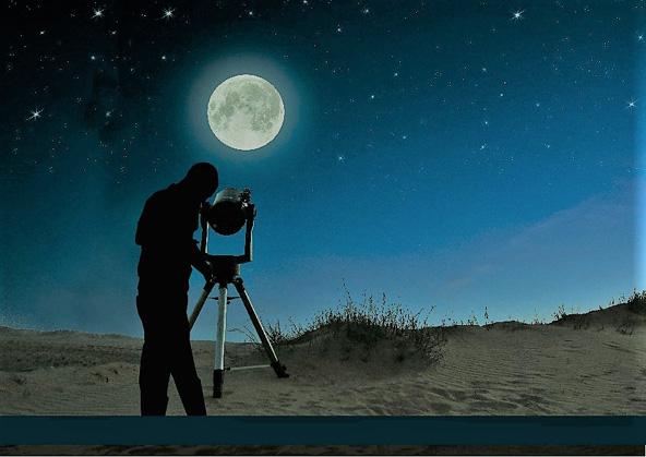 צפייה בכוכבים בלילה של ירח מלא | צילום: וני פינקלשטיין