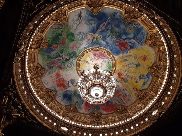 תקרה יפהפייה של שאגל בבית האופרה גארנייה