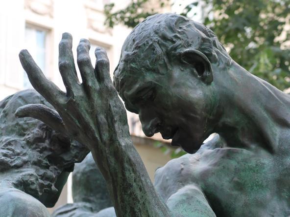 """פרט מ""""שועי העיר קאלה"""", מוזיאון רודן"""