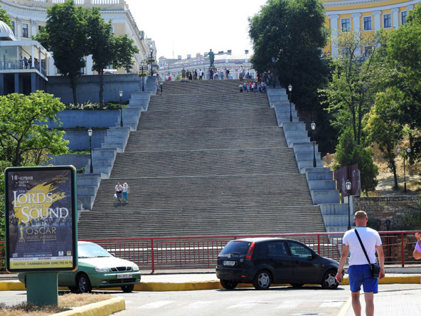 """המדרגות של פוטיומקין, המכונות כך בזכות הסצינה המפורסמת מהסרט """"ספינת הקרב פוטיומקין"""" מ-1925"""