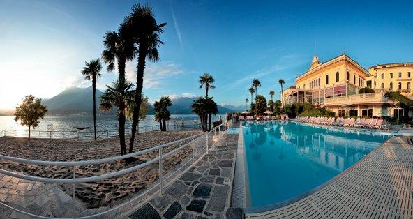 גרנד הוטל וילה סרבלוני על שפת אגם קומו, מול נופי האלפים | הצילום באדיבותGrand Hotel Villa Serbelloni