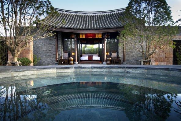 חדר עם בריכה במלון Banyan Tree Lijiang | הצילום באדיבות Banyan Tree Lijiang