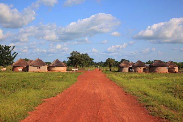 כפר מסורתי טיפוסי בבורקינה פאסו