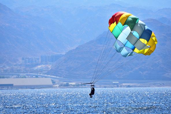 מצנח ימי מעל מפרץ אילת
