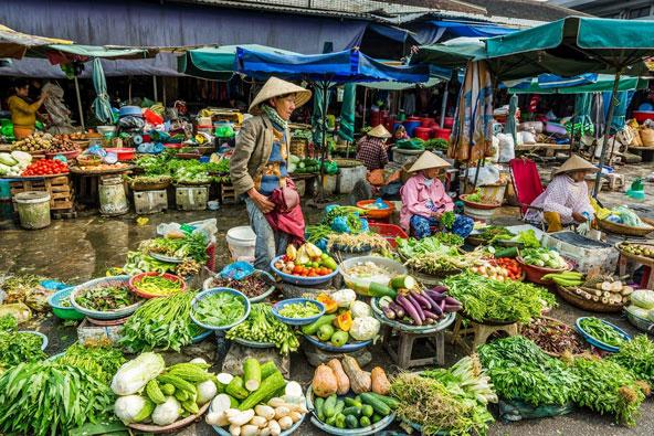 שוק בהואה, במרכז וייטנאם