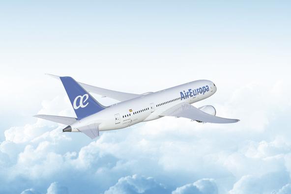 מטוס של אייר אירופה. החברה טסה ליעדים רבים בדרום אמריקה ומרכזה