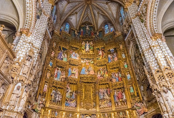 פנים הקתדרלה המפוארת של טולדו   צילום: Takashi Images / Shutterstock.com