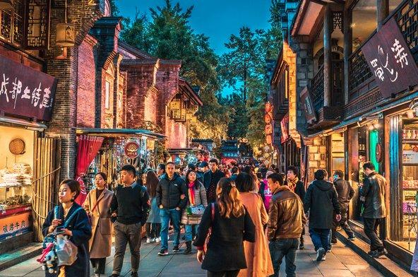 ג'ינלי, רחוב הקניות העתיק של צ'נגדו | צילום: Keitma / Shutterstock.com