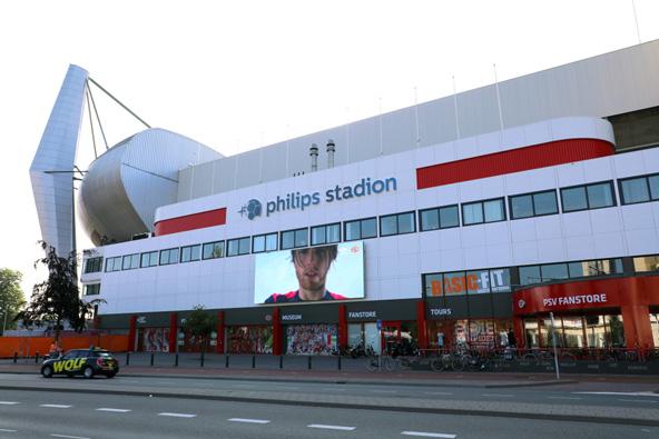 אצטדיון פיליפס, ביתה של קבוצת הכדורגל המקומית, PSV Eindhoven
