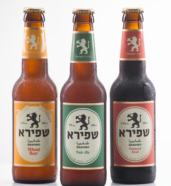 והתוצרת: בקבוקים של בירה שפירא