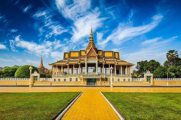 הארמון המלכותי בפנום פן משמש למגורי מלך קמבודיה הנוכחי