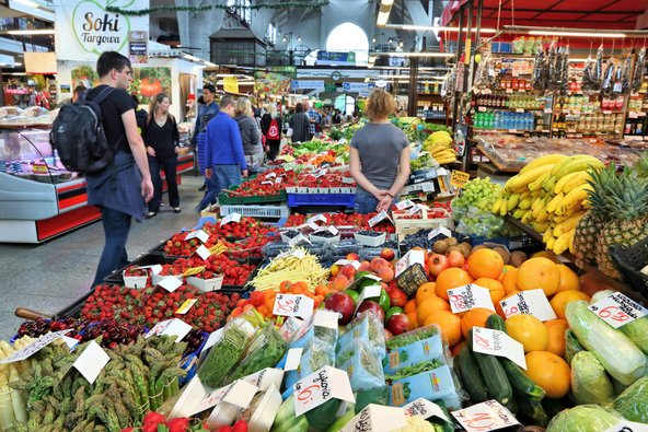 שוק האוכל המקורה של ורוצלאב צילום: Tupungato / Shutterstock.com