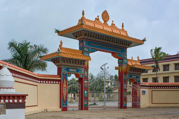 שער הכניסה למנזר במונגוד