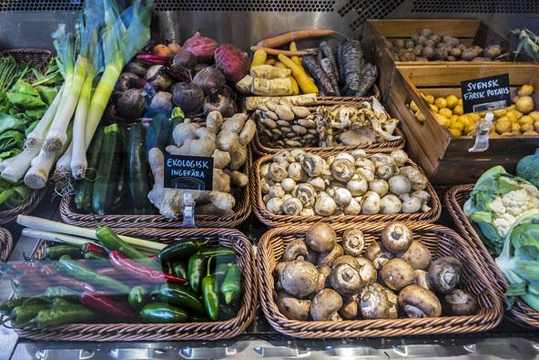 דוכן באוסטרמאלמס סאלוסהול, היכל אוכל מהודר ומתוקתק