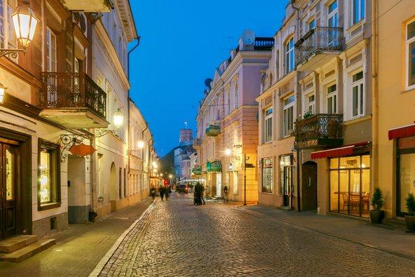 לילה בעיר העתיקה של וילנה