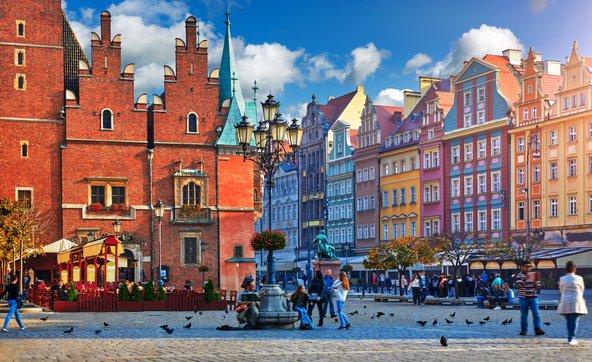 כיכר השוק של ורוצלאב, מהיפות באירופה