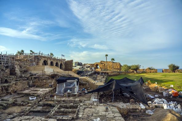 אתר החפירות בקיסריה | צילום: יניב ברמן, באדיבות החברה לפיתוח קיסריה