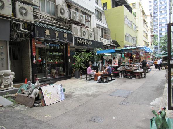 רחוב בשכונת Sheung Wan, מעוזם של ההיפסטרים המקומיים
