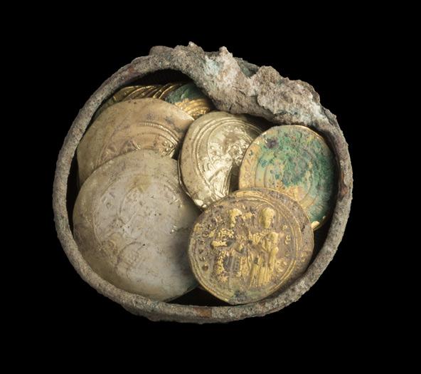 המטמון | צילום: קלרה עמית, רשות העתיקות