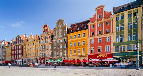 כיכר השוק בעיר העתיקה של ורוצלב