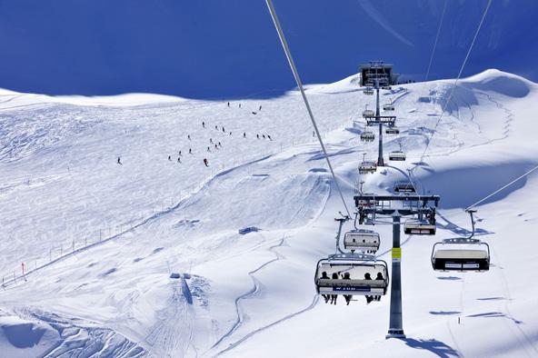מלבון, אתר הסקי היחיד בליכטנשטיין. סקי אלפיני הוא הספורט הלאומי במדינה