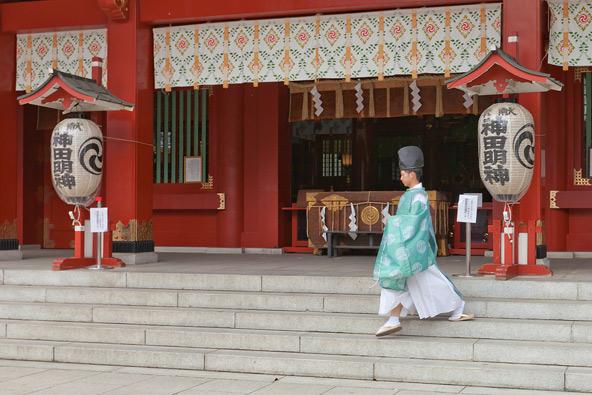 מקדש Kanda Myojin, שהפך לאתר עלייה לרגל לחובבי טכנולוגיה