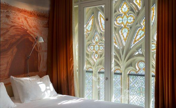 מלון kruisheren. כנסייה גותית ומנזר שהוסבו למלון יוקרתי ומוקפד   צילום: באדיבות מלון Kruisheren
