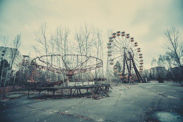 פארק שעשועים נטוש בעיר פריפיאט הסמוכה לצ'רנוביל שננטשה לחלוטין בעקבות האסון