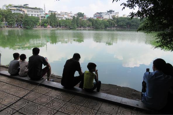 אגם הואן קיים ברובע העתיק של האנוי, צילום רותם בר כהן