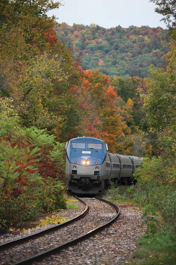 בסתיו, צבעי שלכת מרהיבים מלווים את הנסיעה ב-Ethan Allen Express | צילום: Amtrak / Steve Ostrowski