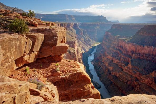 נסיעה ב-Southwest Chief מאפשרת לרדת לטיול בגרנד קניון לפני שממשיכים במסע