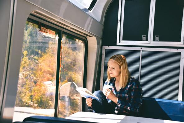 היתרונות של טיול רכבות על פני טיול ברכב ברורים: אפשר להשקיף על הנוף, לקרוא או לישון בנחת