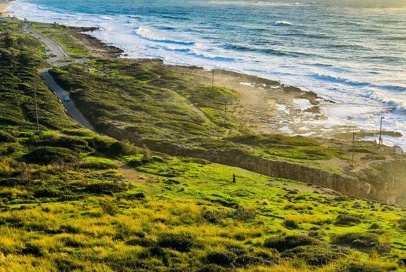 רצועת חוף פראית בשמורת חוף ראש הנקרה