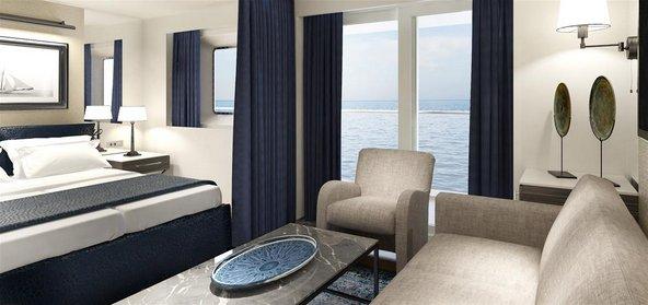 סוויטה עם מרפסת ונוף לים באיריס קראון
