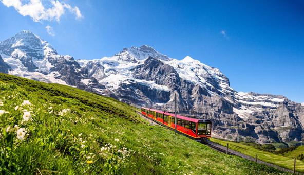 חבילת Stopover Switzerland כוללת נסיעה חופשית ברכבות שעוברות בנופים חלומיים