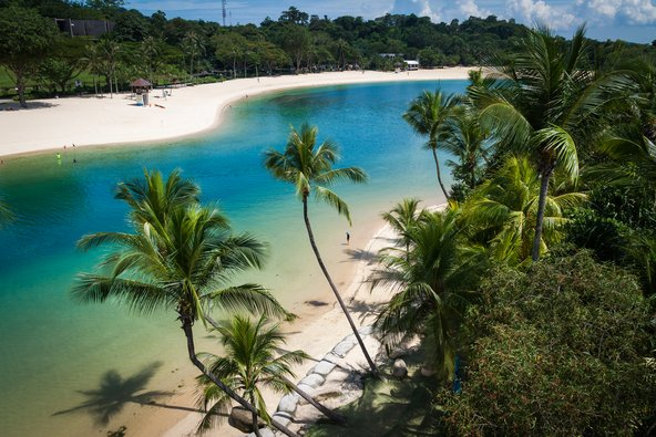 חוף פאלאוואן באי סנטוסה
