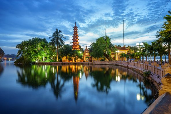 פגודת Tran Quoc בהאנוי, הפגודה העתיקה בווייטנאם