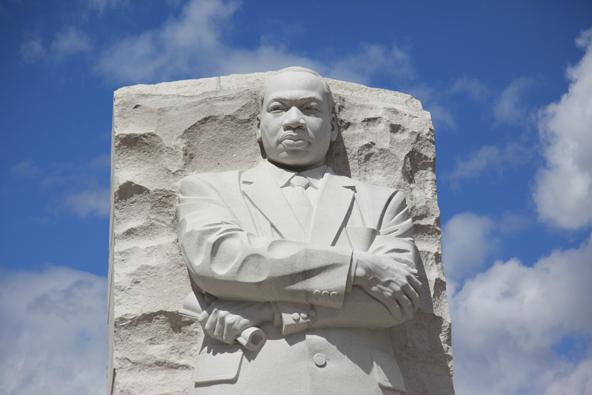 האנדרטה לזכרו של מרטין לותר קינג, שהיה לו חלק משמעותי במאורעות שנות השישים