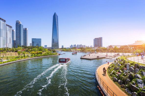סונגדו, בחוף המערבי של דרום קוריאה, תוכננה כעיר חכמה ואקולוגית