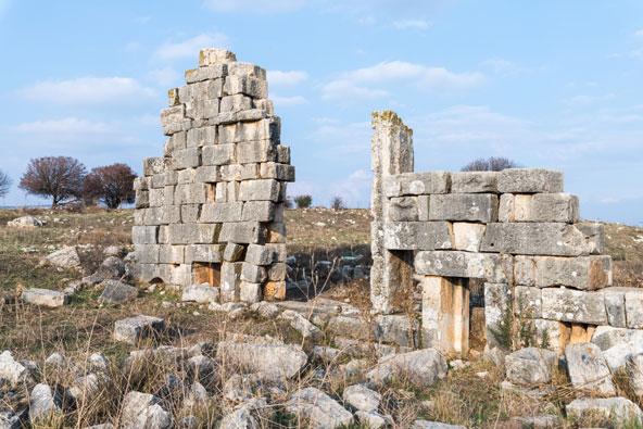 שרידי המקדש הרומי בתל קדש